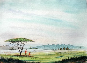 African Painting - I Can See Home African