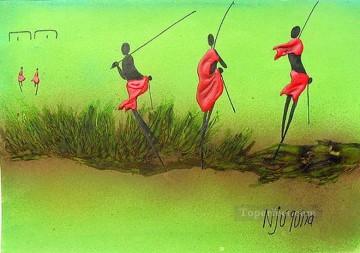 African Painting - In the Green African