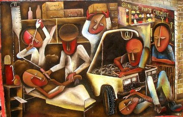 African Painting - Kimuyu We Need Them! African