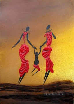 African Painting - Naughty Swinger African