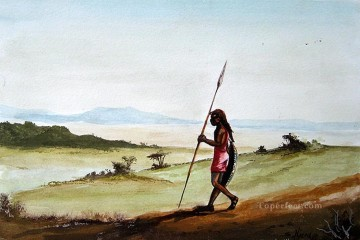 African Painting - Njeru On the Hunt African