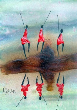 Reflection African Oil Paintings