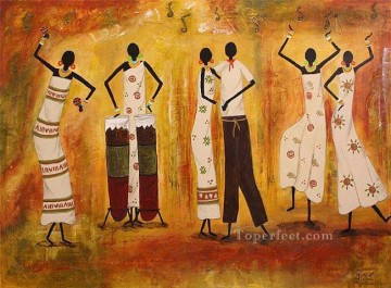Rumba textured African Oil Paintings