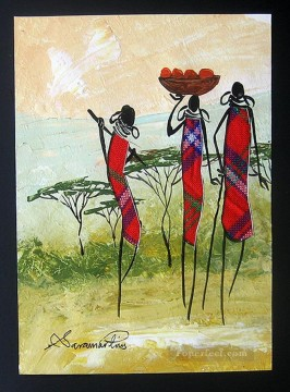 Shiundu Maasai Ladies Head Home African Oil Paintings