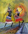 black dancers decor thick paints African