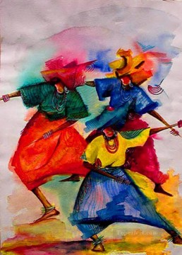 dance gouache African Oil Paintings