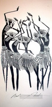 African Painting - group Bulinya African