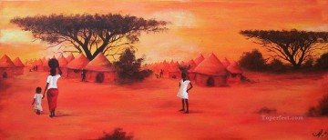 African Oil Painting - African Tribus