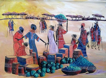 Bartering African Oil Paintings