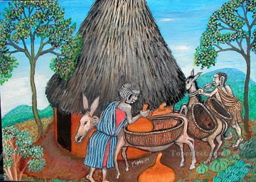 African Painting - Beasts of Burden African