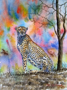 African Painting - Cheetah Colors African