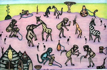 Dancing Ceremony African Oil Paintings
