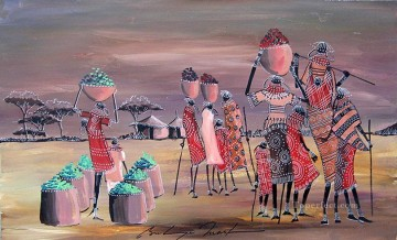 Evening Market from Africa Oil Paintings
