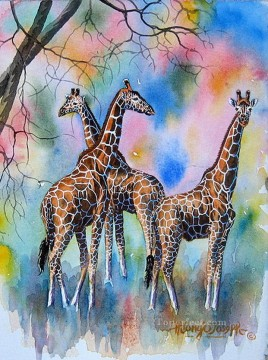Giraffe from Africa Oil Paintings
