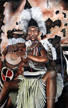 Jared Minjikenda Drummer from Africa Oil Paintings