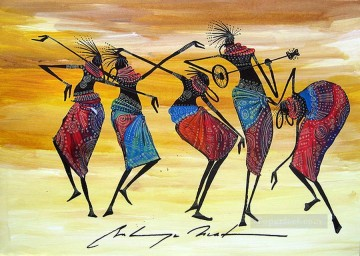 African Painting - Joyous from Africa