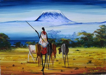 Kilimanjaro Ahead from Africa Oil Paintings