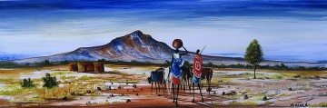 African Painting - Long Haul from Africa