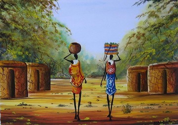 Manyatta Home from Africa Oil Paintings