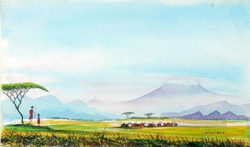 Mt Kilimanjaro Scape from Africa Oil Paintings