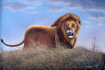 Mugwe Lion Roar from Africa Oil Paintings