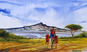 African Painting - Near Naivasha from Africa