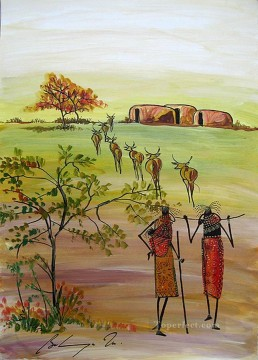 Nearing Home from Africa Oil Paintings