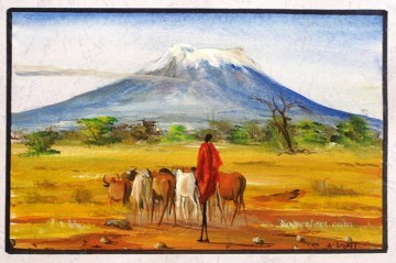 On the Foot of Kilimanjaro from Africa Oil Paintings
