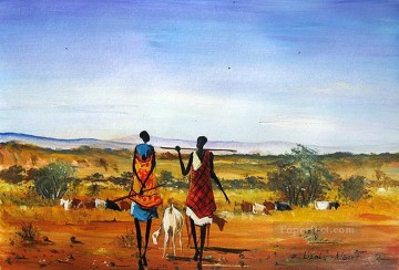 African Painting - On the Plains from Africa