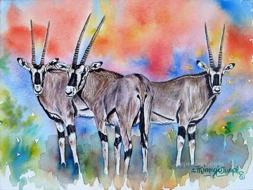 Oryx from Africa Oil Paintings