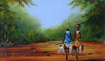 Quiet Road from Africa Oil Paintings