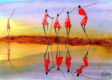 African Painting - Reflection 1 from Africa