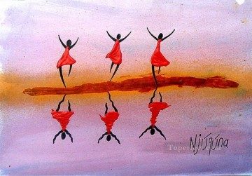 Reflection Joy from Africa Oil Paintings