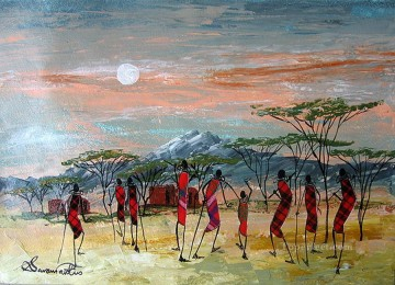 Shiundu The Initiation from Africa Oil Paintings