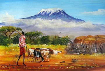 Spectacular Mt Kilimanjaro from Africa Oil Paintings