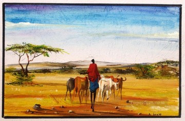 Under the Big Sky from Africa Oil Paintings