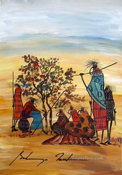 Weary from Africa Oil Paintings