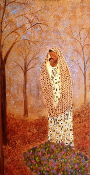 African Painting - mother child from Africa