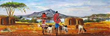 African Painting - Almost Home from Africa