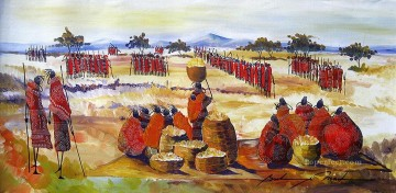 Ceremony from Africa Oil Paintings