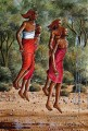 Ndeveni Maasai Morans Dancing Near the Forest from Africa