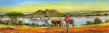 African Painting - Near Lake Nakuru from Africa