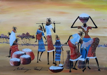 Packing Up from Africa Oil Paintings