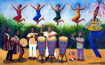 music party from Africa Oil Paintings