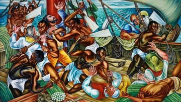 African Painting - Amistad from Africa