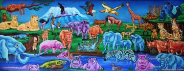 animals nursery from Africa Oil Paintings
