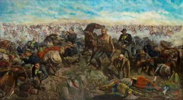 custers last stand Indiana Oil Paintings