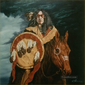 American Indians Painting - American Indian Portrait