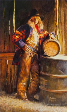 Indiana Oil Painting - Roll Out The Barrel Indiana