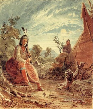 Seth Eastman xx Indians in Camp Oil Paintings
